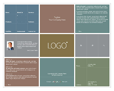 template 008 index 400x320 Best of FREE PSD Templates