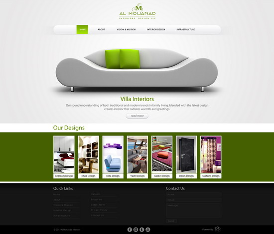 Free Adobe Photoshop Website Templates By Al Mohand Interior Designs