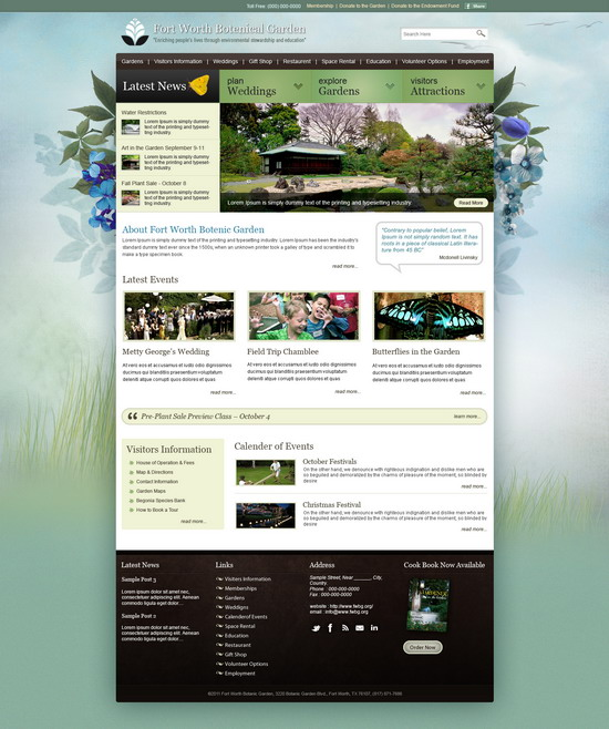 Merveilleux Free Garden Design Website Templates